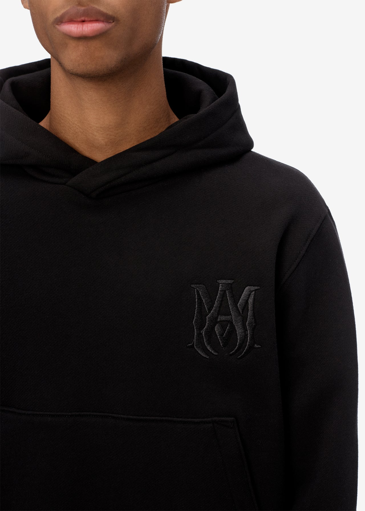 EXCLUSIVE M.A. FITTED HOODIE - BLACK / BLACK