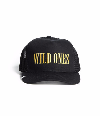 WILD ONES TRUCKER HAT BLACK/YELLOW