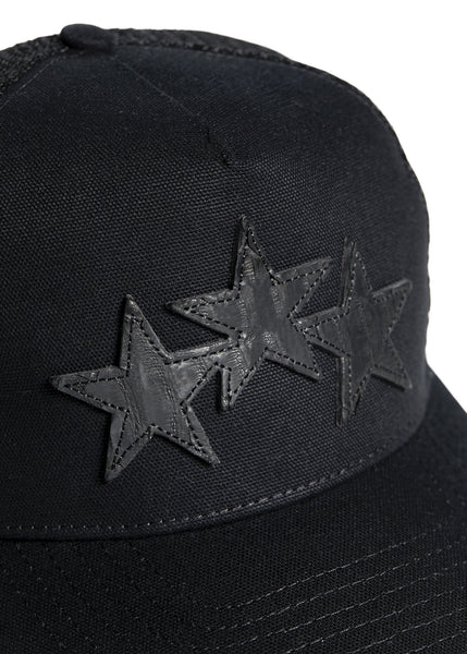 STAR TRUCKER HAT BLACK/BLACK