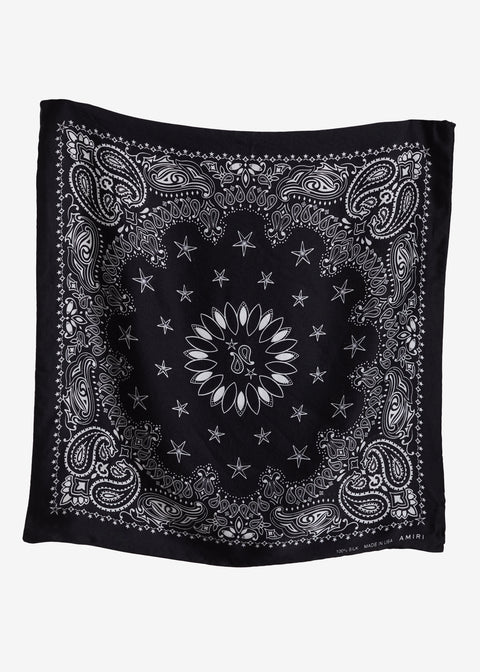 SILK BANDANA BLACK