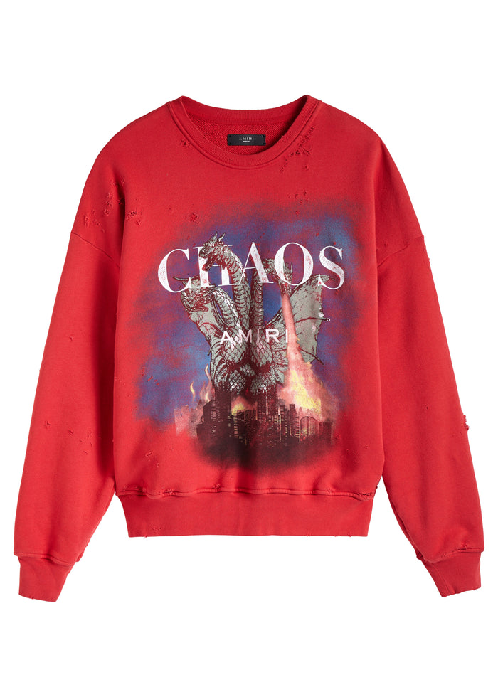 City Dragon Crewneck Scarlet