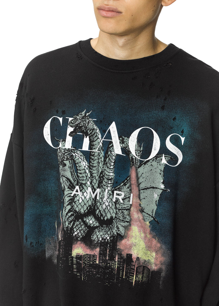 City Dragon Crewneck Black