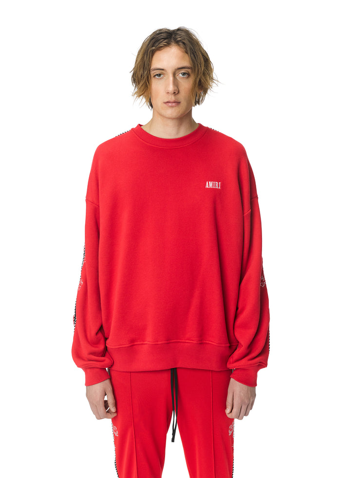 Dragon Outline Crewneck Scarlet