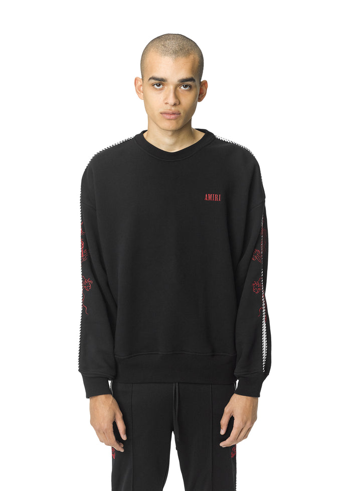 Dragon Outline Crewneck Black