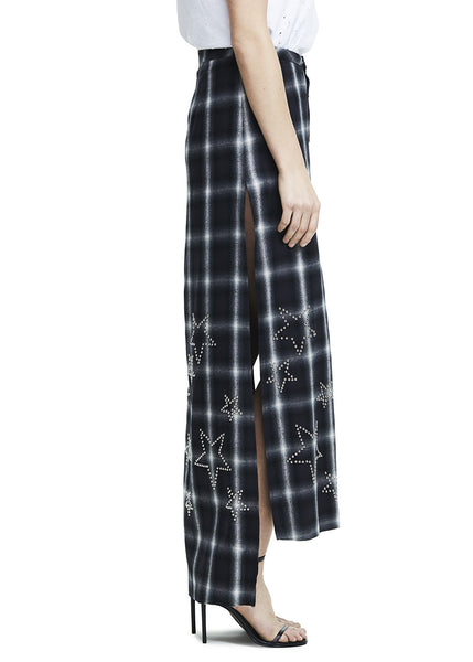 FLANNEL STAR SKIRT BLACK