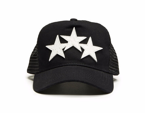 STAR TRUCKER HAT BLACK/WHITE