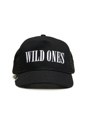 WILD ONES TRUCKER HAT BLACK/WHITE