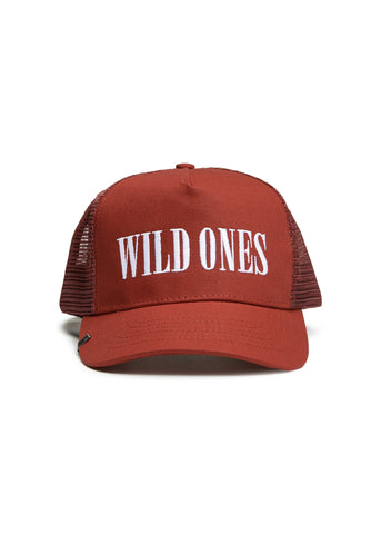 WILD ONES TRUCKER HAT RED/WHITE