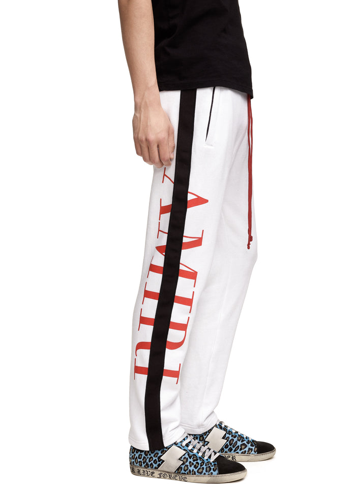 AMIRI Stripe Sweats White/Black