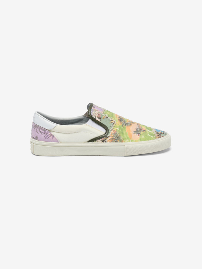 Hawaiian Reconstructed Slip On - Purple / Green