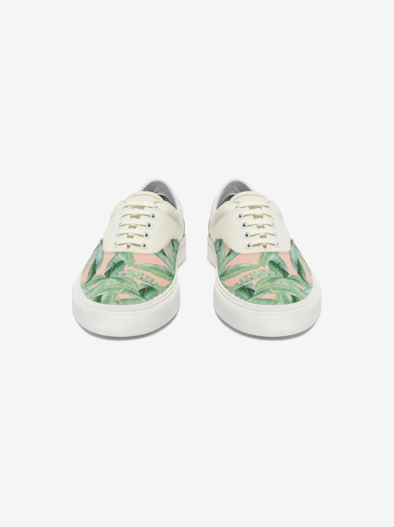 Small Banana Leaf Lace Up - Green / Peach / Natural