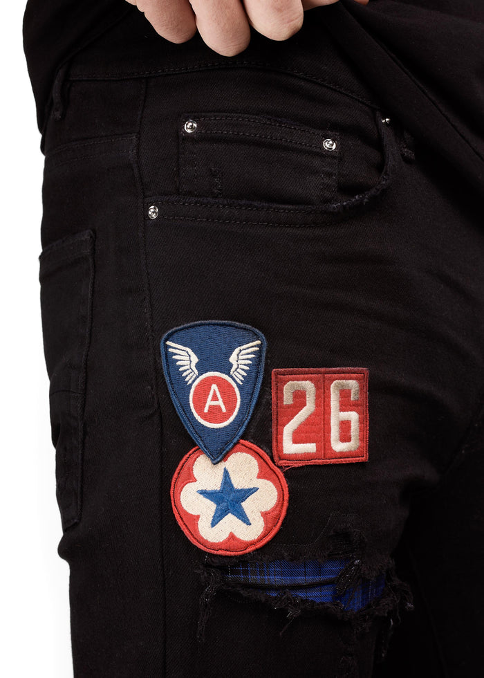 Art Patch Jean Black