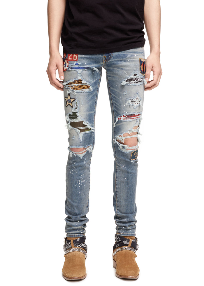 Art Patch Painted Jean Medium Indigo