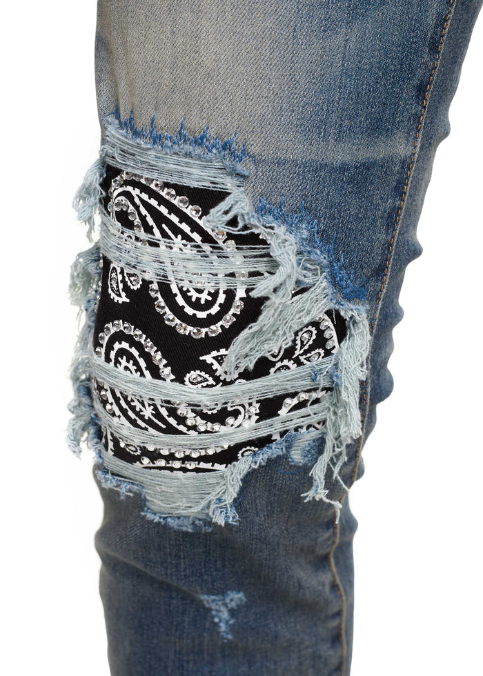 Bandana Crystal Jean Medium Indigo
