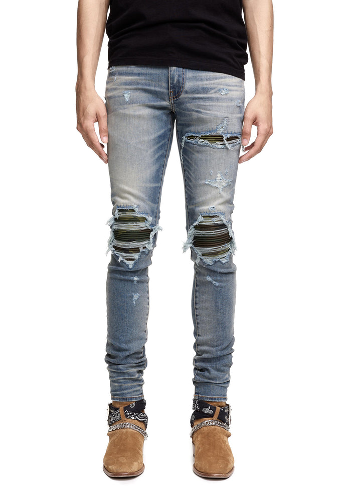 MX1 Camo Patch Jean Medium Indigo