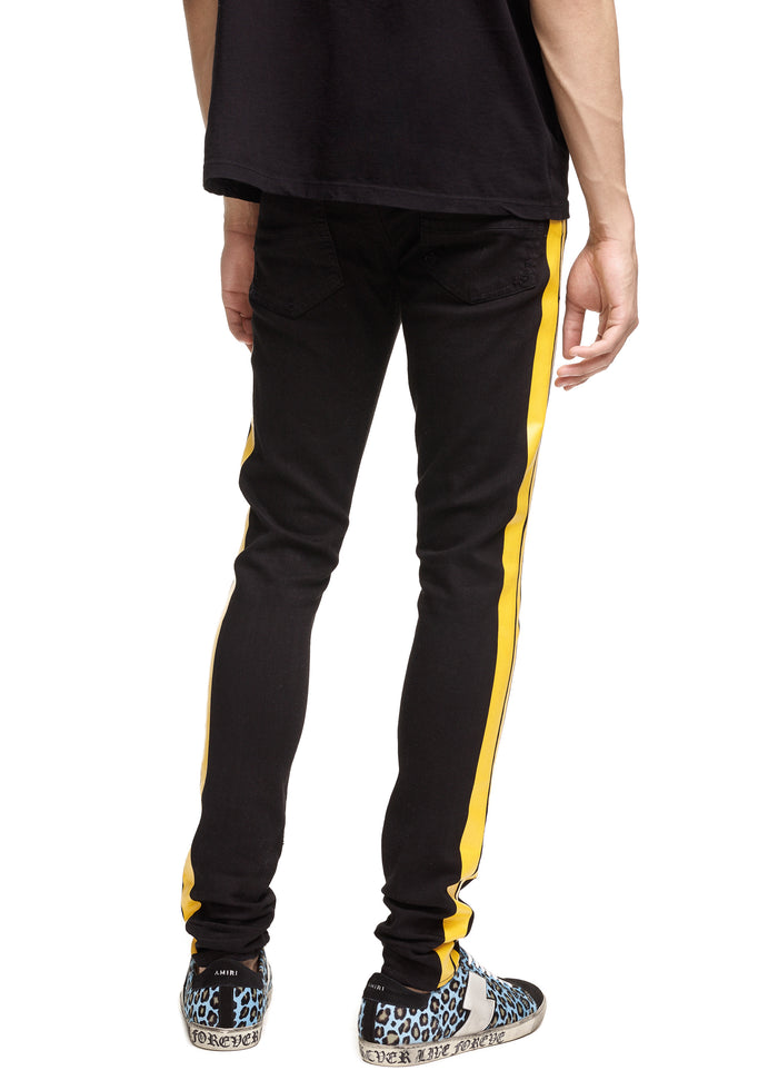 Stack Track Jean Black/Yellow
