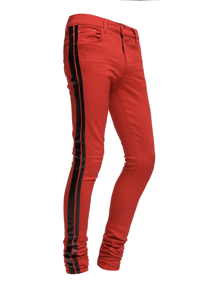 Stack Track Jean Red/Black