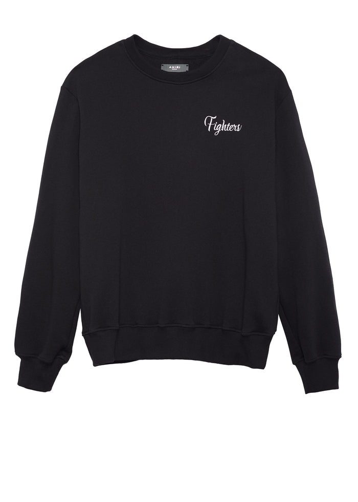 Fighters Embroidered Crew Black/Red