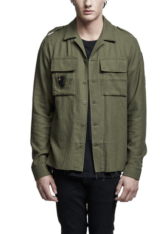 Cashmere Military Shirt Olive