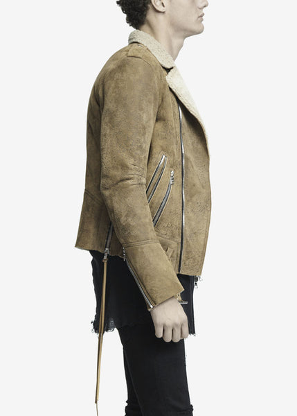 Shearling Rider Jacket Brown
