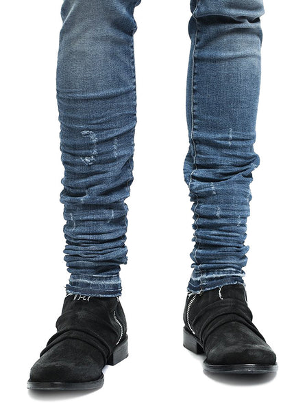 Stack Boot Black