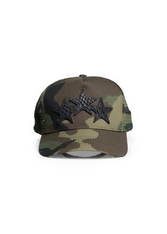 STAR TRUCKER HAT CAMO/BLACK