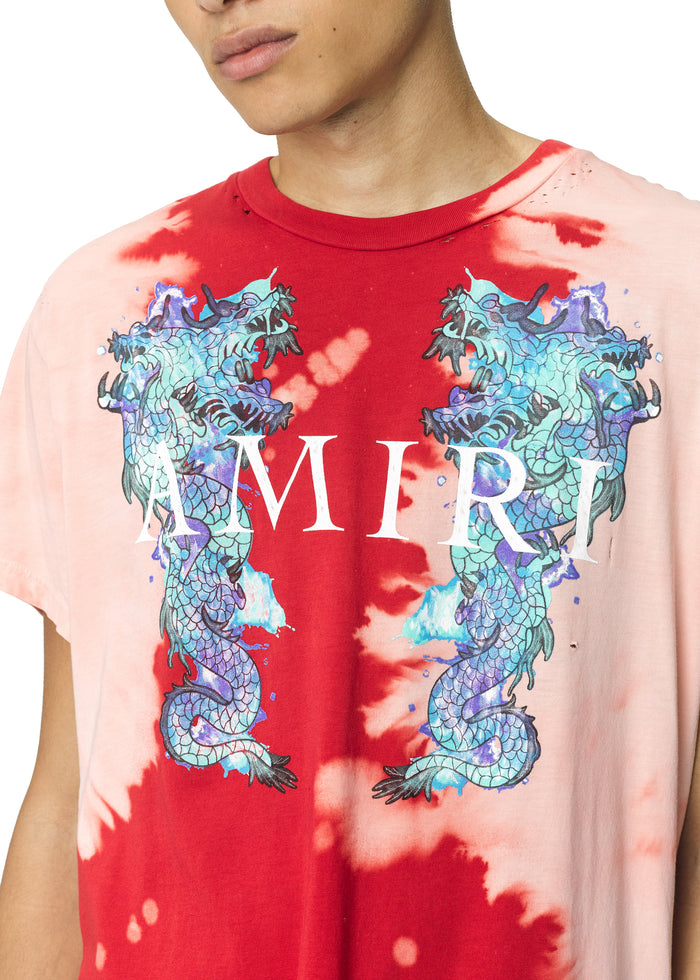 Watercolor Dragon Tee Scarlet