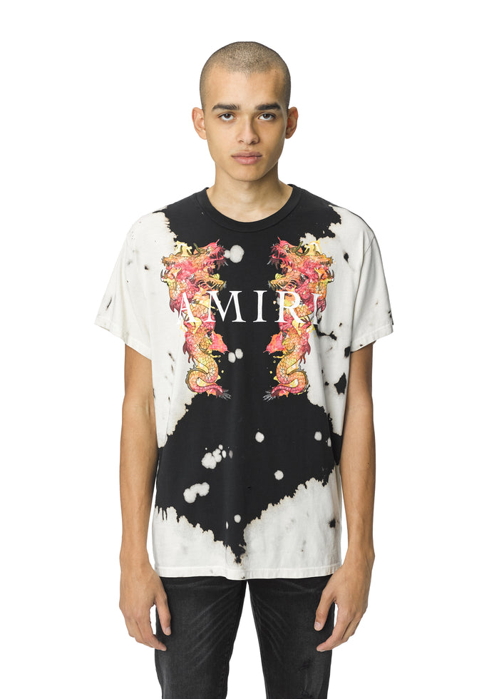 Watercolor Dragon Tee Black