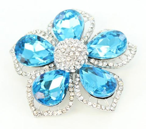 Aquamarine Brooch