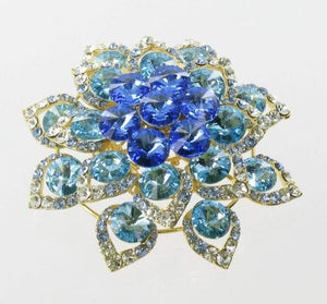Gold Base AB Stone Brooch