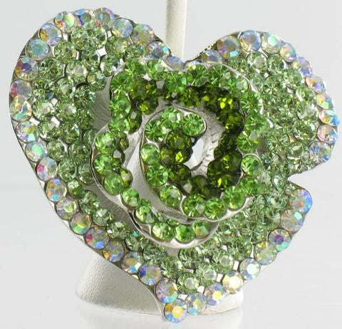 Unique heart shaped Emerald  brooch
