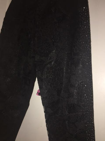 Beautiful Black Lace Pants Jeweled Pants