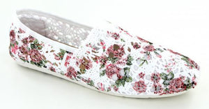 Ladies Lace Floral Flat