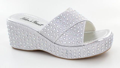 SILVER SHOES WITH BLING