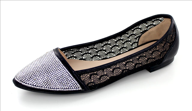 Sparkly Lace Ladies Flat
