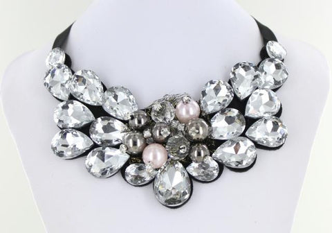 CLEAR Bib style necklace