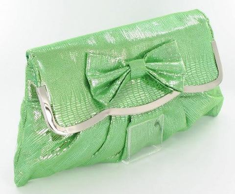 Green Ladies Formal Purse w/ BOW