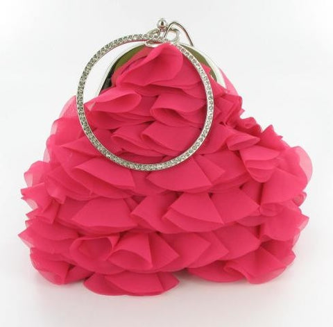 Fuchsia formal purse w/bracelet like handle/holder