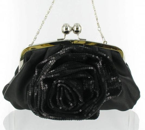 Black Ladies Formal Purse with Shoulder Chain