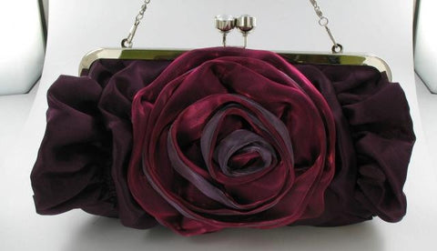 Amethyst Purple rose bag purse
