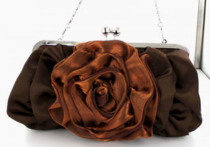 Amethyst Purple rose bag purse COMES IN 7 ADDITIONALS COLORS
