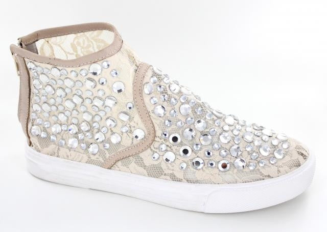Cream bling shoe