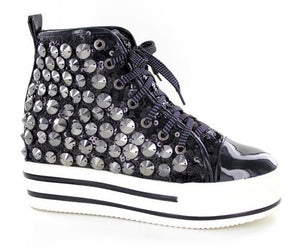 Black High top bling shoes