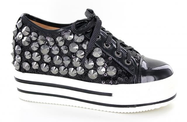 Black low top bling shoe