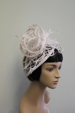 IVORY Intricate and Elegant Wedding Hat