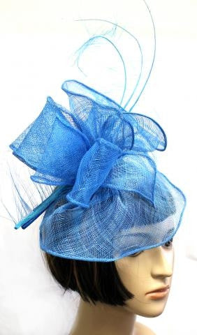 Turquoise bow Veil