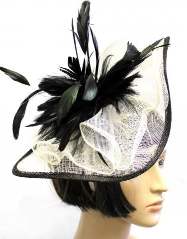 BLACK/IVORY COLOR HAT