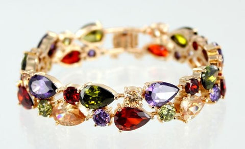 GOLD BASE MULTI STONE BRACELETS