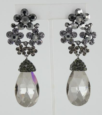 Silver base  stone earring