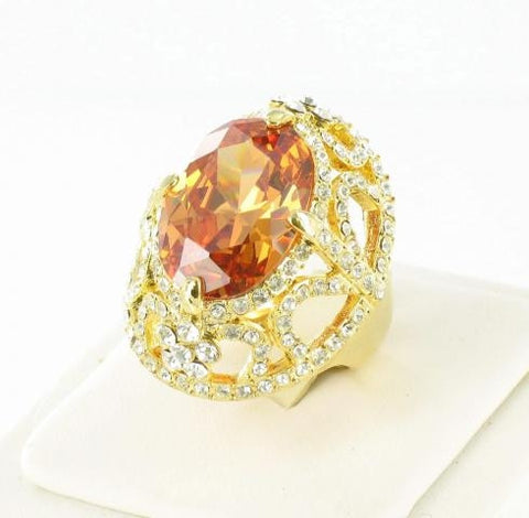 Gold Base Topaz (203) Stone Ring